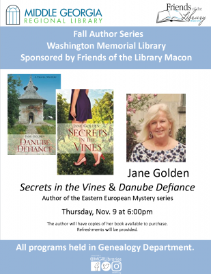 Mystery Author -JANE GOLDEN