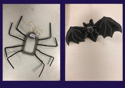 Kids Halloween Craft- Bats & Spiders