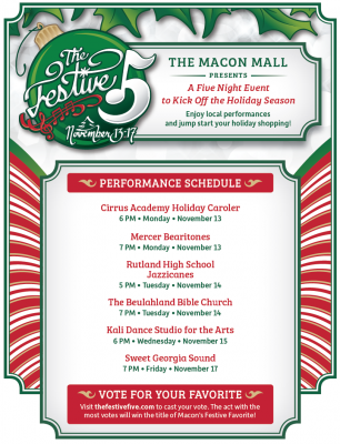 Macon Mall's The Festive Five