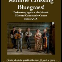 Award Winning Bluegrass from MONROE CROSSING! Live at the Howard Community Club Tues, Jan 16!
