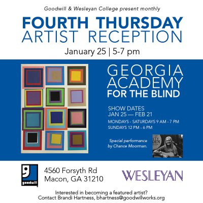 Goodwill's Forsyth Road Artist Reception: Georgia Academy for the Blind