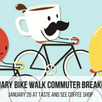January Bike Walk Commuter Breakfast: Taste & See Coffee Shop