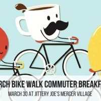 March Bike Walk Commuter Breakfast: Jittery Joe's Mercer Village