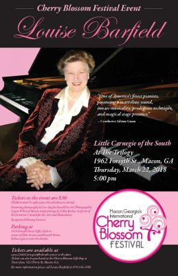 Concert by International Pianist, Louise Barfield