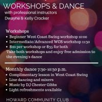 WORKSHOPS IN WEST COAST SWING & EVENING SECOND SATURDAY DANCE
