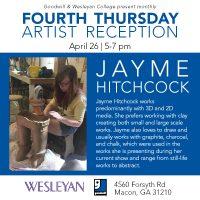 Artist Reception: Jayme Hitchcock