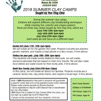 2018 Summer Clay Camp - Garden Art