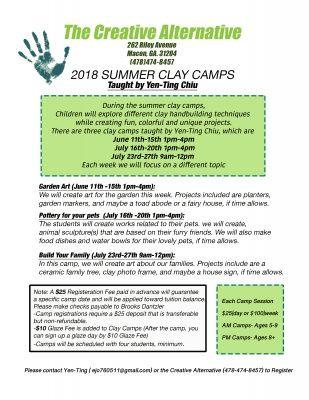 2018 Summer Clay Camp - Garden Art