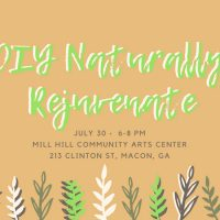 DIY Naturally Rejuvenate Workshop: