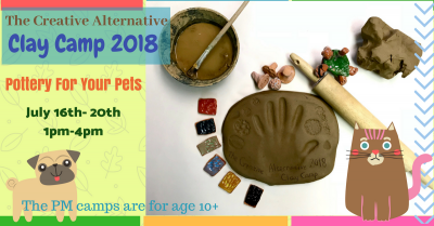 2018 Summer Clay Camp - Pottery For Your Pets