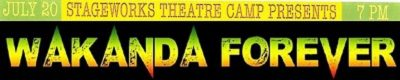 Stageworks Summer Theatre Camp 2018 Presents...