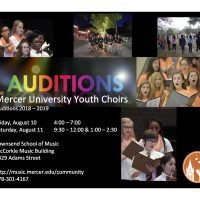 Auditions for 2019 - 2020, 15th Anniversary Season
