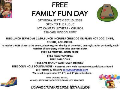 Family Fun Day Free