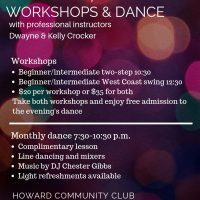 USA Dance Workshop and monthly dance - September 8, 2018