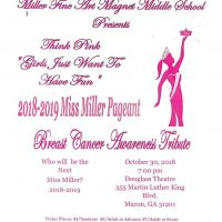"""2018-2019 MISS MILLER PAGEANT """"GIRLS JUST WANT TO HAVE FUN"""""""
