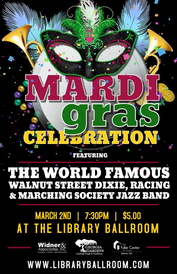 Mardi Gras Celebration presented by The Library Ballroom | Macon365
