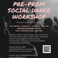 PRE-PROM SOCIAL DANCE WORKSHOP - USA DANCE CHAPTER 6059