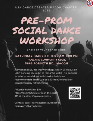 PRE-PROM SOCIAL DANCE WORKSHOP - USA DANCE CHAPTER...