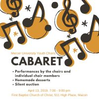 Mercer University Youth Choirs Spring Cabaret and Silent Auction