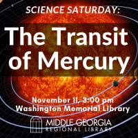 Science Saturday: Transit of Mercury
