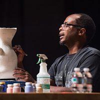 Ceramic artist Kevin Snipes, artist-in-residence