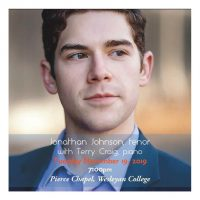 Jonathan Johnson, tenor With Terry Craig, piano