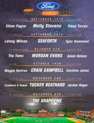 Ford Concert Series- Mercer football vs. Campbell