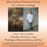 Washington Memorial Library Author Series: Tony Ceballos