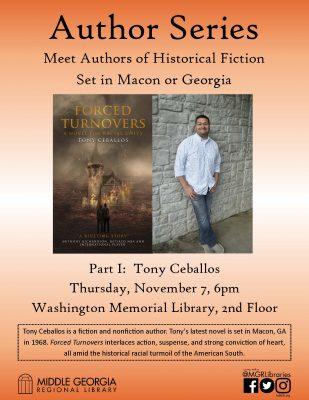 Washington Memorial Library Author Series: Tony Ce...