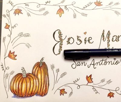 Fall Hand Lettering Workshop