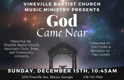 """God Came Near"" Christmas Cantata"