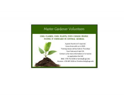 New Master Gardener Training