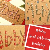 Holiday Hand Lettering Workshop
