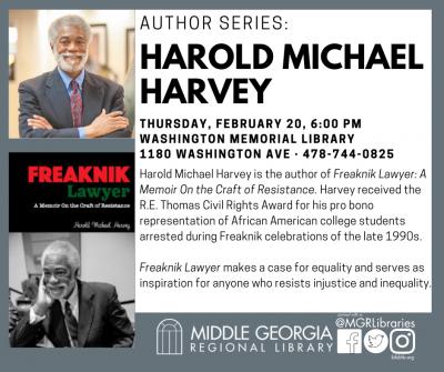 Author Series: Harold Michael Harvey