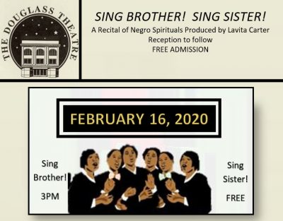 SING BROTHER! SING SISTER!