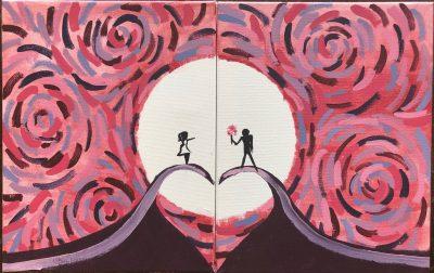 Valentine's Corks & Canvas
