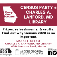 Census Party @ Charles A. Lanford, MD Library