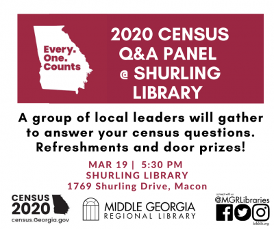 2020 Census Q&A Panel @ Shurling Library