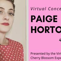 Virtual Cherry Blossom Concert: Paige Horton