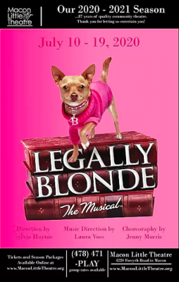 Legally Blonde the Musical at Macon Little Theatre