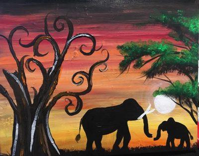 Elephants Paint Class - Virtual Event