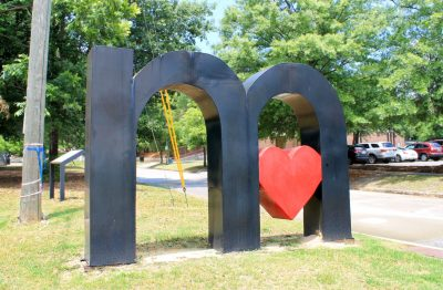 I Love Macon Sculpture