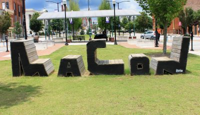 Macon Shaped Benches