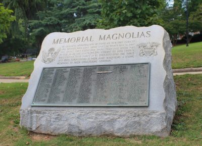 Memorial Magnolias Plaque