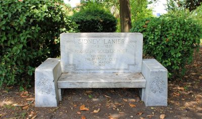 Sidney Lanier Memorial Bench