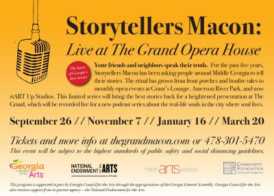 Storytellers Macon Live at The Grand Opera House: ...