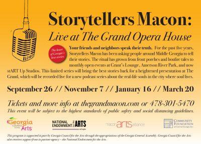 Storytellers Macon Live at The Grand Opera House: Macon Magic