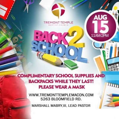 Tremont Temple Baptist Church Back 2 School Event