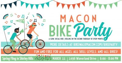 Macon Bike Party: Spring Fling in Shirley Hills