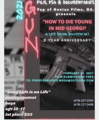 How to Die Young in Mid Georgia 2 year Anniversary Film Screening. Macon Gun Violence